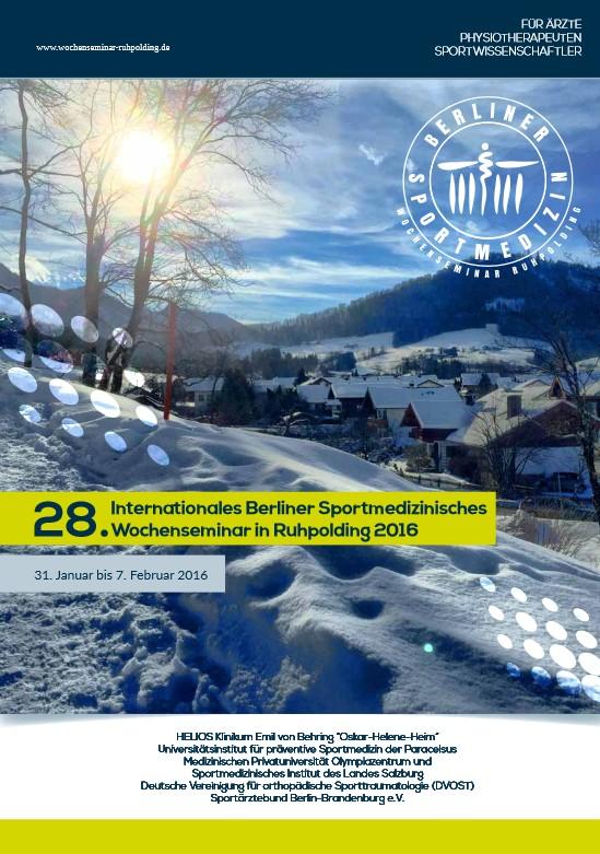 Programm 28. Berliner Sportmedizinseminar