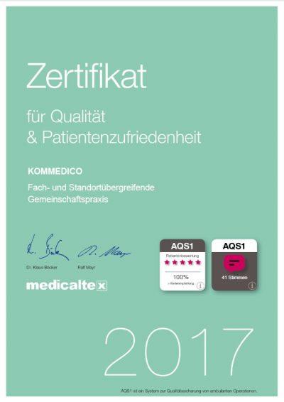 AQS1-Zertifikat 2017