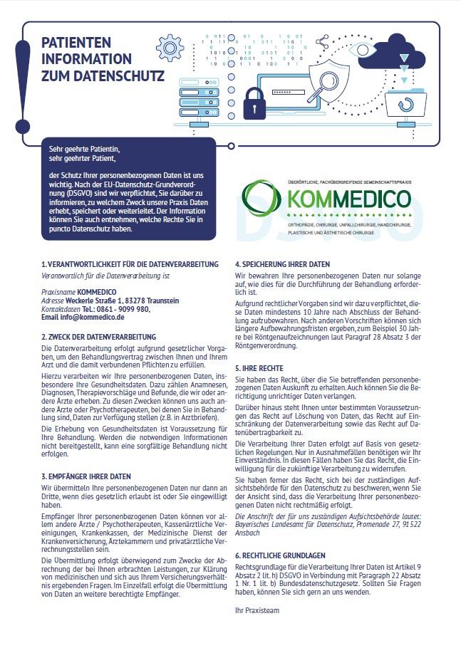 DSGVO KOMMEDICO-Patienteninfo A3