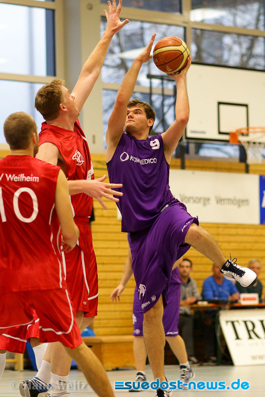 DJK Basketballer - Neuzugang Chris Ortner in Action