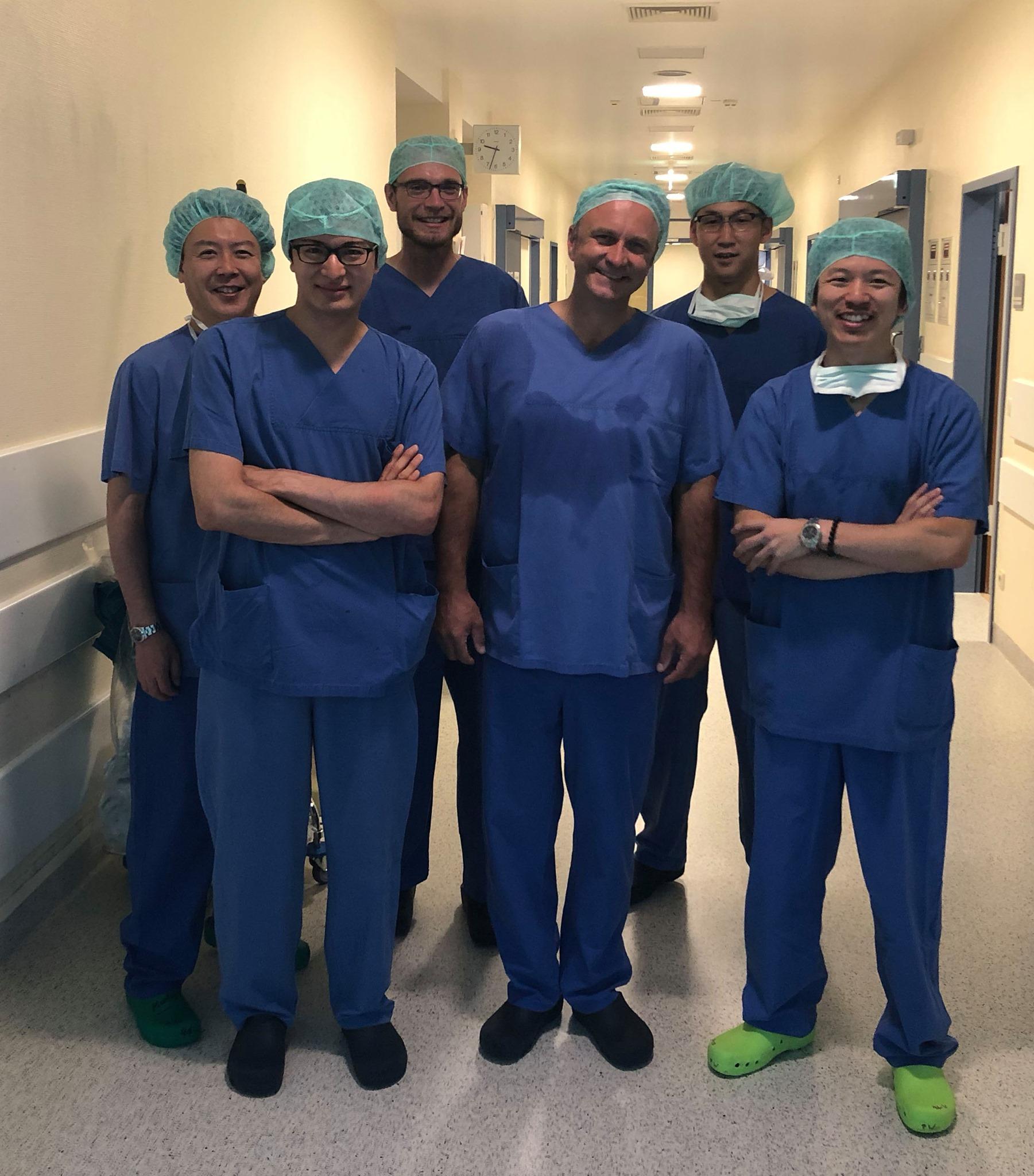 Dr. Demhartner und Kollegen aus Tokio