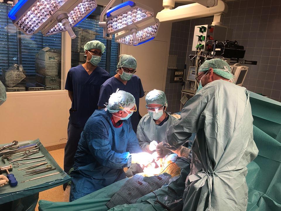 Dr. Demhartner im OP mit Kollegen aus Japan
