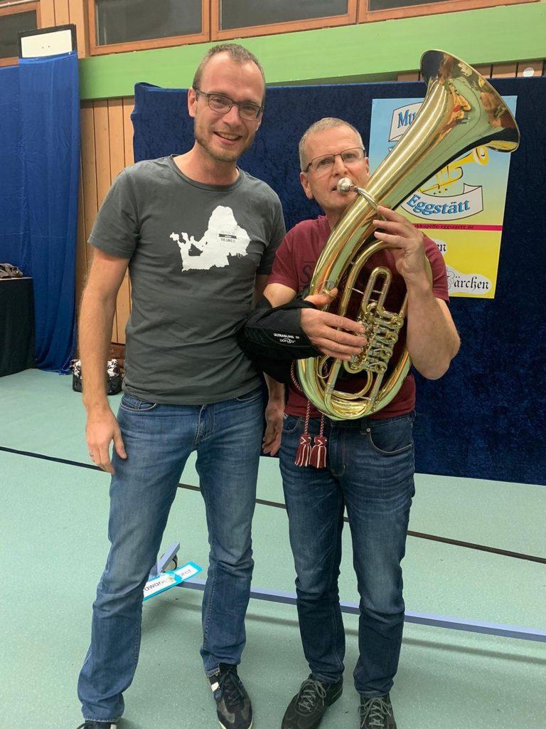 Kommedico Dr. Landinger und Sepp nach Schulter Operation 2019