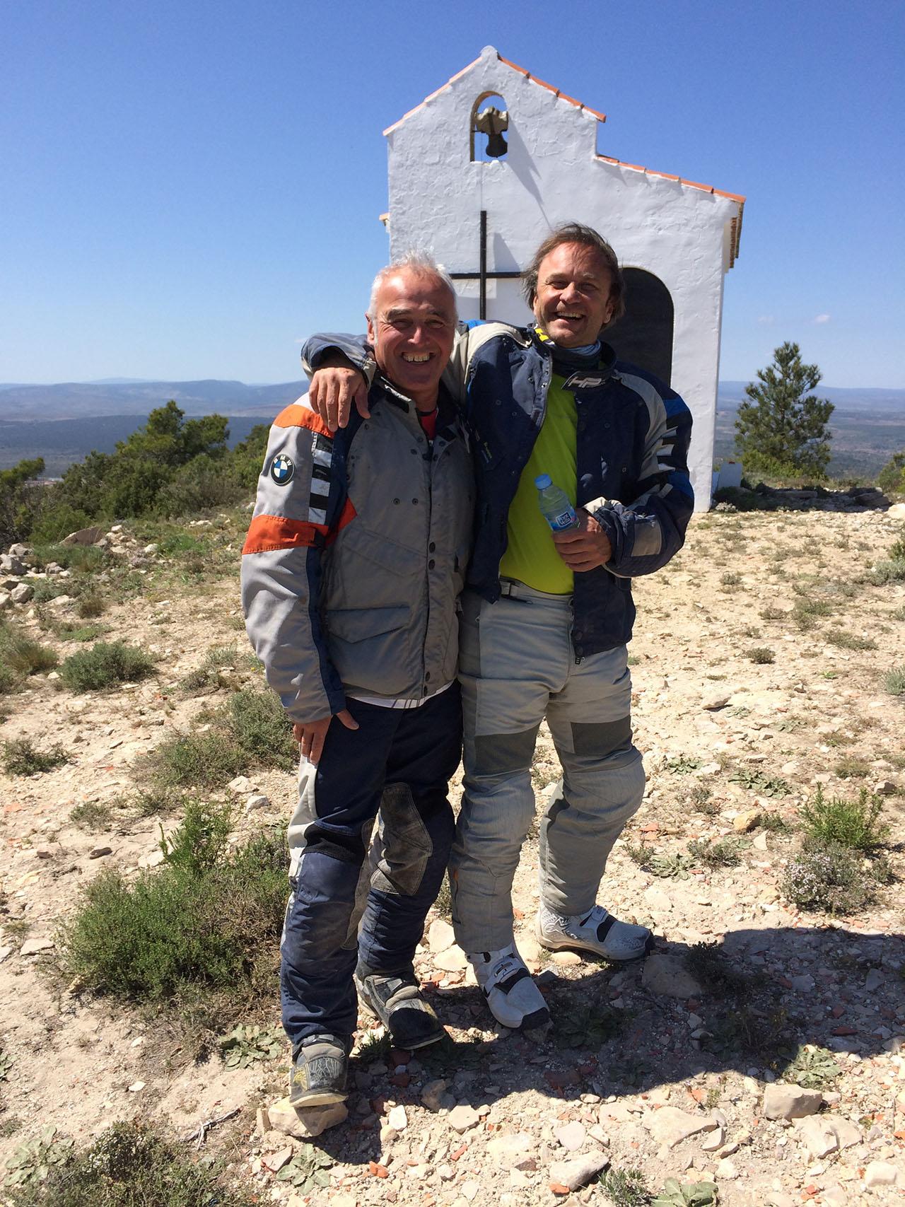 Tomm Wolf vom Enduropark Spanien und Dr. Demhartner
