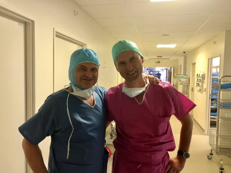 Dr. Mengel und Dr. Bertrand Sonnery Cottet aus Lyon