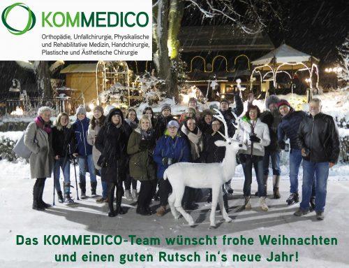 Das KOMMEDICO-Team wünscht frohe Weihnachten!