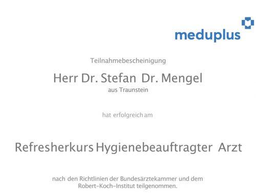 Dr. Mengel ist hygienebeauftragter Arzt